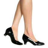 Preto Verniz 5 cm FAB-420W Sapatos Scarpin Femininos