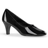 Preto Verniz 8 cm DIVINE-420W Sapatos Scarpin Femininos