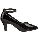 Preto Verniz 8 cm DIVINE-431W Sapatos Scarpin Femininos