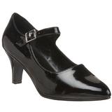 Preto Verniz 8 cm DIVINE-440 Sapatos Scarpin Femininos