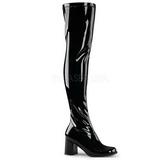 Preto Verniz 8 cm GOGO-3000 botas over knee mulher