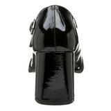 Preto Verniz 8 cm GOGO-50 Scarpin Saltos Altos para Homens