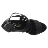 Preto banda elástica 15 cm DELIGHT-669 sapatos pleaser femininos