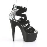 Preto banda elástica 18 cm ADORE-748SP sapatos pleaser femininos