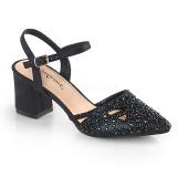 Preto brilho 7 cm Fabulicious FAYE-06 sandálias de salto alto mulher