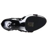 Preto gladiadoras 15 cm DELIGHT-682 Sandálias Salto Agulha