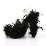 Preto marabu penas 18 cm ADORE-708F sapatos de pole dance