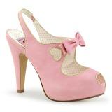 Rosa 11,5 cm BETTIE-03 Pinup sapatos scarpin de plataforma oculta