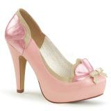 Rosa 11,5 cm BETTIE-20 Pinup sapatos scarpin de plataforma oculta