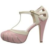 Rosa 11,5 cm BETTIE-25 Pinup sapatos scarpin de plataforma oculta