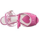 Rosa 11,5 cm Pinup BETTIE-01 sandálias de salto alto mulher