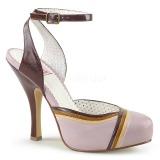 Rosa 11,5 cm retro vintage CUTIEPIE-01 Pinup sandálias de plataforma oculta