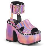 Rosa 12,5 cm Demonia CAMEL-102 sandálias lolita plataforma