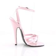Rosa 15 cm DOMINA-108 sapatos fetiche com salto agulha