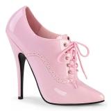 Rosa 15 cm DOMINA-460 sapatos oxford com salto agulha