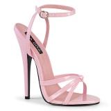 Rosa 15 cm Devious DOMINA-108 sandálias de salto alto mulher