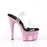 Rosa 18 cm ADORE-708-2HGM Sapatos plataforma de salto glitter