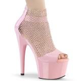 Rosa 18 cm ADORE-765RM brilho plataforma zapatos mulher
