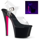 Rosa 18 cm SKY-308TT Neon plataforma salto alto mulher
