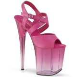 Rosa 20 cm FLAMINGO-822T Sapatos plataforma de salto