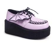 Rosa 7,5 cm CREEPER-205 sapatos creepers mulher - asas de morcego