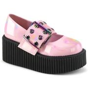 Rosa 7,5 cm CREEPER-230 maryjane creepers sapatos fivela larga