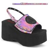 Rosa 9 cm Demonia FUNN-32 sandálias lolita plataforma