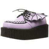 Rosa CREEPER-205 sapatos creepers de mulher rockabilly