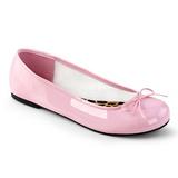 Rosa Envernizado ANNA-01 numeros grandes sapatos bailarina