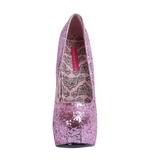 Rosa Glitter 14,5 cm Burlesque BORDELLO TEEZE-06G Plataforma Scarpin Salto Alto