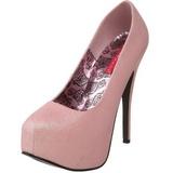 Rosa Glitter 14,5 cm TEEZE-31G Platform Scarpin Sapatos