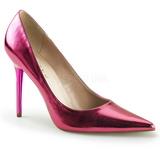 Rosa Metálico 10 cm CLASSIQUE-20 Sapatos Scarpin Salto Agulha