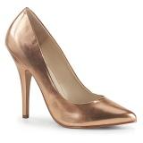 Rosa Ouro 13 cm SEDUCE-420 scarpin de bico fino salto alto