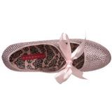 Rosa Pedra Cristal 14,5 cm Burlesque TEEZE-04R Plataforma Scarpin Salto Alto