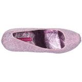 Rosa Pedra Cristal 14,5 cm TEEZE-06R Plataforma Scarpin Salto Alto