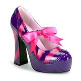 Rosa Roxo 13 cm KITTY-32 calçados femininos com salto alto