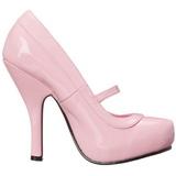 Rosa Verniz 12 cm CUTIEPIE-02 Sapatos Scarpin Femininos