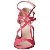 Rosa Verniz 13 cm AMUSE-15 sandálias para noite de gala