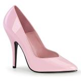 Rosa Verniz 13 cm SEDUCE-420V scarpin de bico fino salto alto