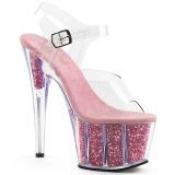 Rosa brilho 18 cm Pleaser ADORE-708G sapatos de saltos pole dance