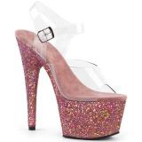 Rosa brilho 18 cm Pleaser ADORE-708LG sapatos de saltos pole dance