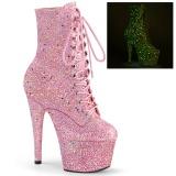 Rosa glitter 18 cm ADORE-1020GDLG botinha de saltos pole dance