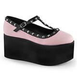 Rosa lona 8 cm CLICK-07 sapatos de mulher góticos