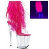 Rosa marabu penas 20 cm FLAMINGO-1017MFF sapatos de pole dance