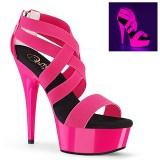 Rosa neon 15 cm DELIGHT-669UV sapatos de saltos pole dance