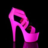 Rosa neon 18 cm Pleaser ADORE-769UV sapatos de saltos pole dance