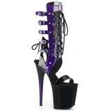 Roxo 20 cm FLAMINGO-800-38 sandália cano longo gladiadoras para mulher