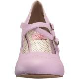 Roxo 7,5 cm retro vintage FLAPPER-35 Pinup sapatos scarpin com saltos baixos