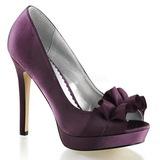 Roxo Cetim 12 cm LUMINA-42 sapato scarpin para noite de gala