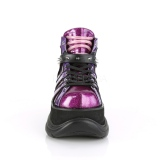 Roxo Imitação Couro 7,5 cm NEPTUNE-100 Goticas Sapatos Homem Plataforma